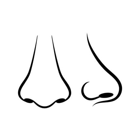 icon vector: Human nose vector icon