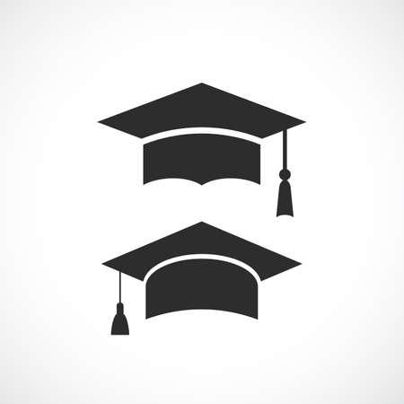 celebration background: Graduation hat vector icon