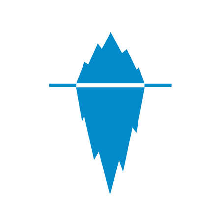 tip of iceberg: Iceberg vector pictogram