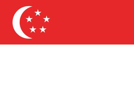 star: Singapore national flag vector illustration Illustration