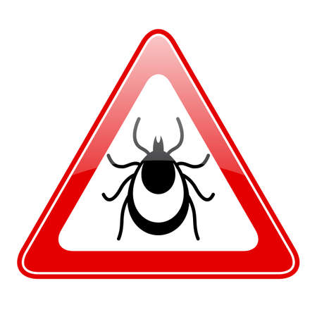 parasite: Tick warning vector sign
