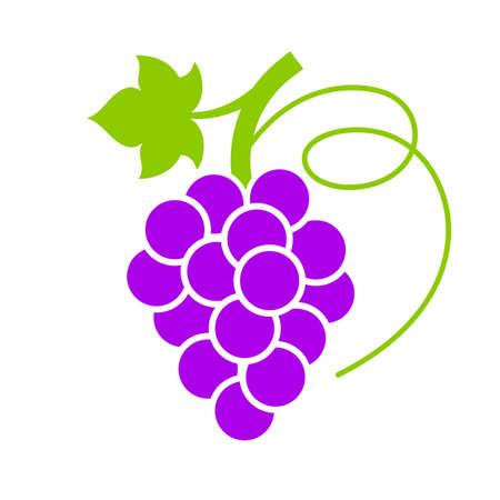 berry: Ripe violet grape vector icon