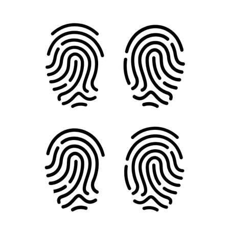 secure: Finger print vector icons set