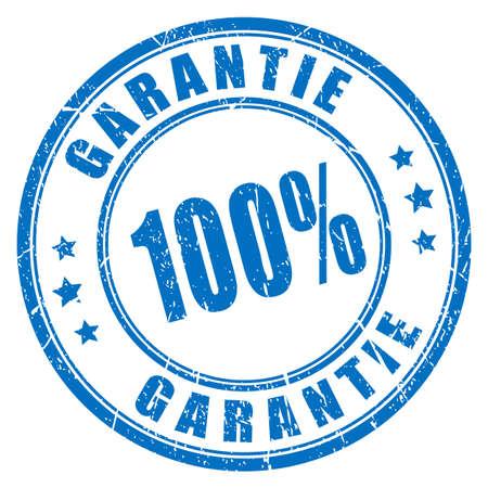 German language guarantee rubber stamp, 100 garantie