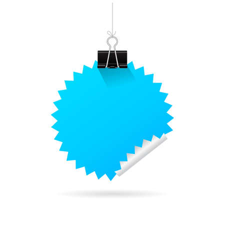 sheet of paper: Hanging blue note paper