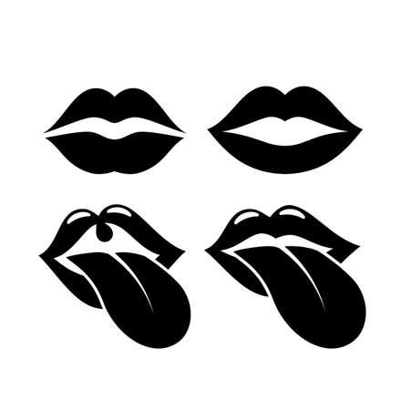 Mouth vector icon set