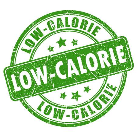 低カロリーのベクトル スタンプ  イラスト・ベクター素材