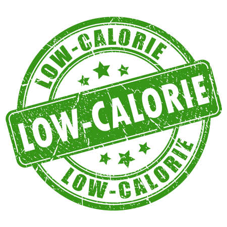 dietary: Low-calorie rubber stamp. Illustration