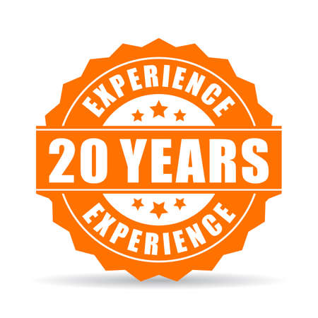 20 years experience icon.