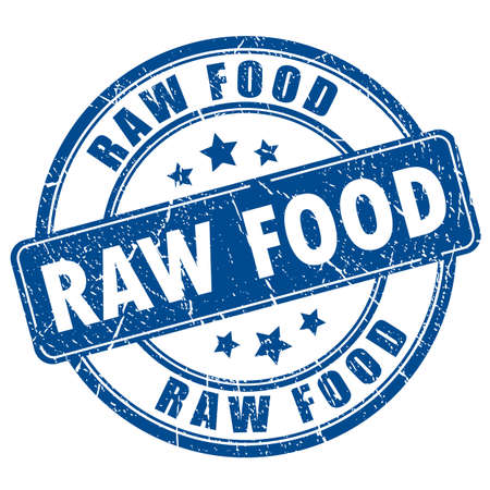 raw: Raw food rubber stamp