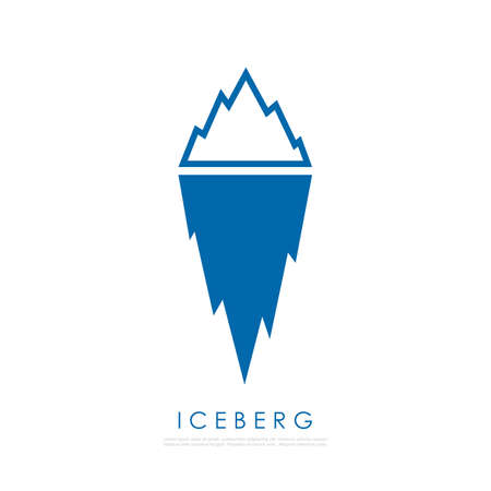 tip of iceberg: Iceberg illustration. Illustration