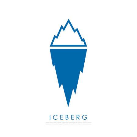 Iceberg illustration. Illustration