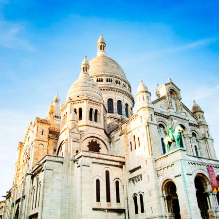 Sacre Coeur Cathedral known as Basilica of the Sacred Heart, Paris, France