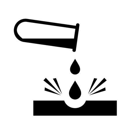 Caustic chemicals danger sign Illustration