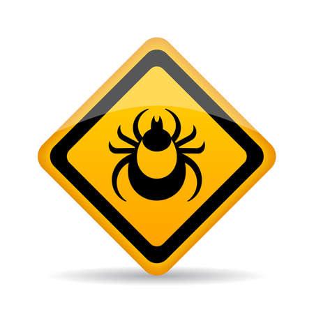 escarabajo: Señal de alerta de peligro