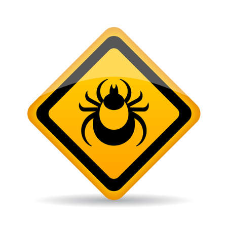 Tick danger alert sign