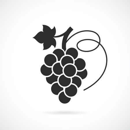 Grapes vector icon