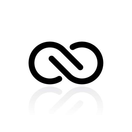 Infinite vector icon Illustration