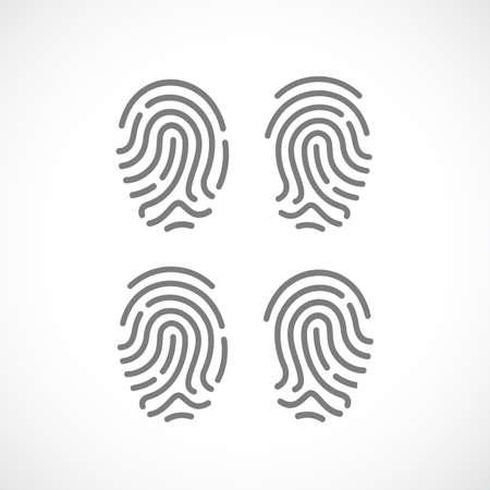 icon vector: Fingerprint vector icon set