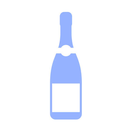 icon vector: Champagne bottle vector icon