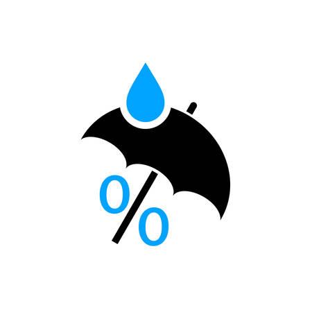 gotas de agua: Humedad resumen vector logo Vectores