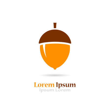 brown: Acorn vector logo