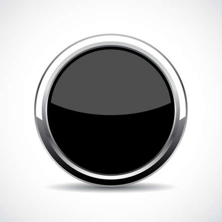 shiny: Black glass web button
