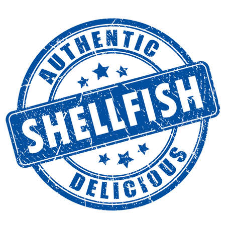 Shellfish food rubber stamp