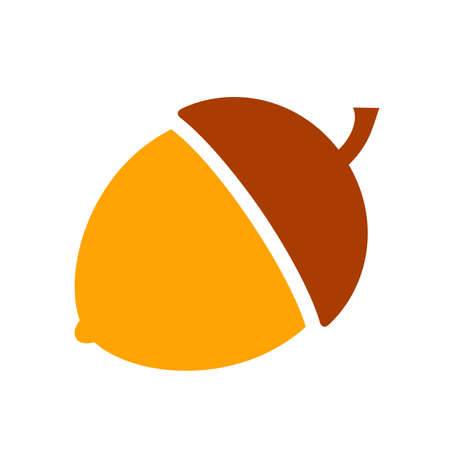 Acorn vector icon Illustration