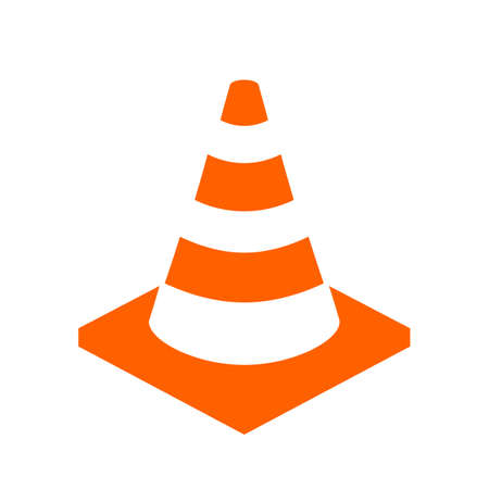 Construction cone vector icon Illustration