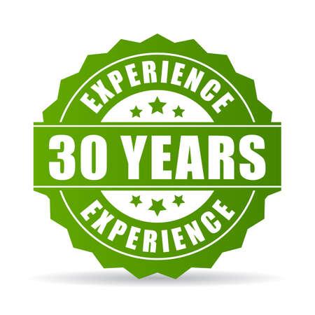 30 lat doświadczenia wektor ikona Ilustracje wektorowe