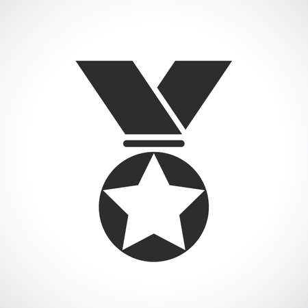 Prize medal vector icon