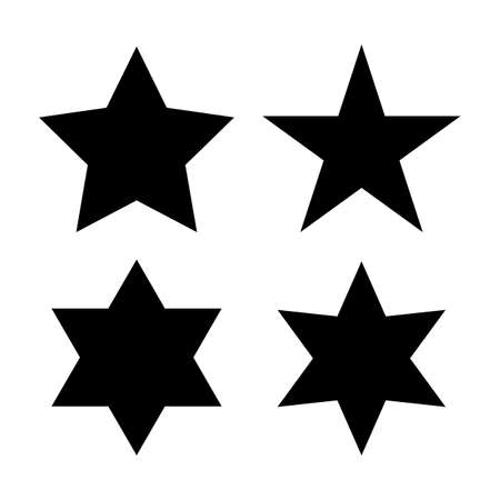 ベクトルの星のアイコンを設定  イラスト・ベクター素材