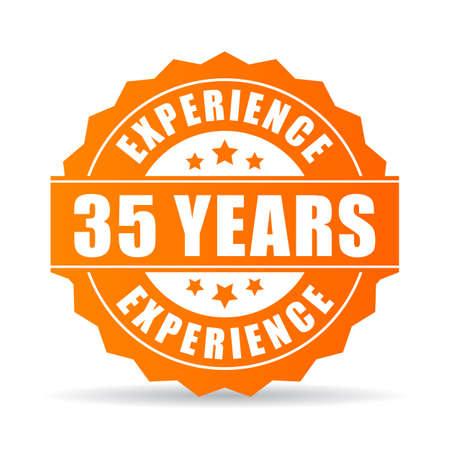 lifecycle: Treinta y cinco años de experiencia vector icono