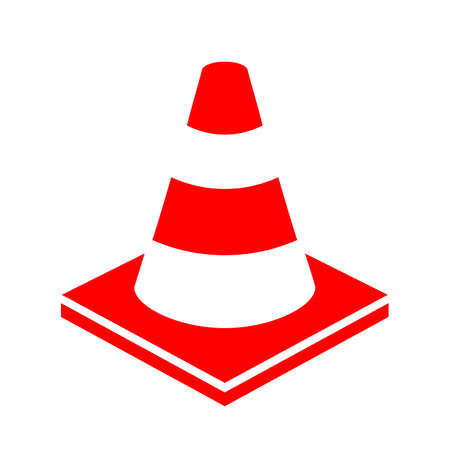 be careful: Road works cone vector icon