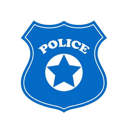 security symbol: Police vector sign Illustration