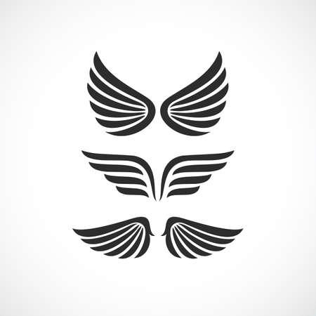 천사의 날개 벡터 아이콘 세트 일러스트