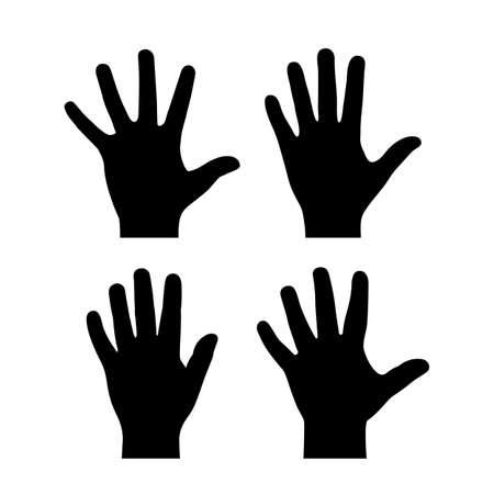 Open palm vector icon