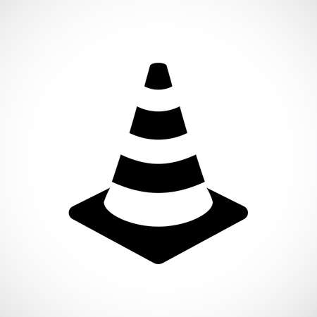 Safety cone vector icon Illustration