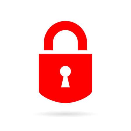 Lock silhouette vector icon