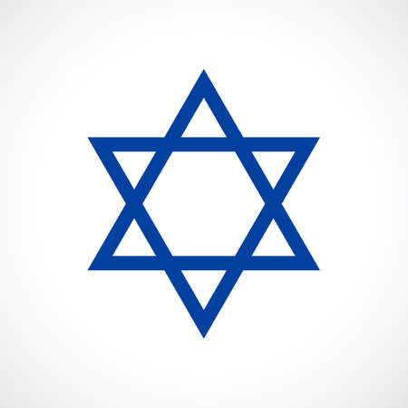 jewish: Magen David vector star icon