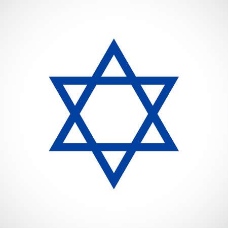 Magen David vector star icon