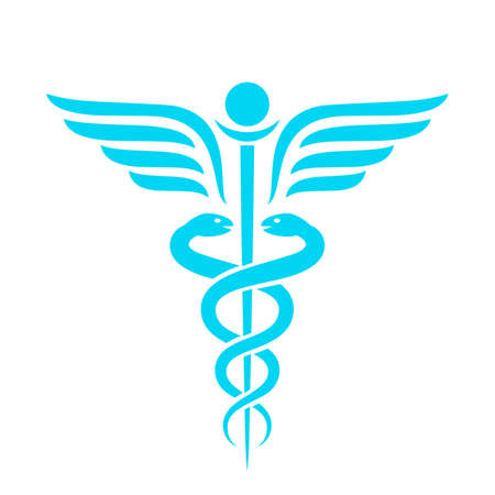 Medicine ancient vector emblem
