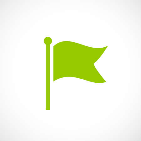 Green flag vector icon Illustration