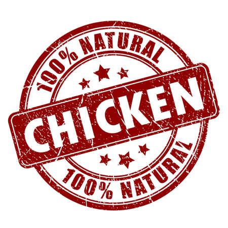 Natural chicken meat stamp