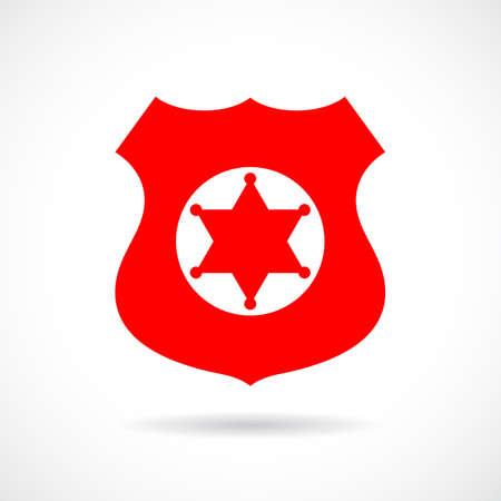 Sheriff insignia icono vector