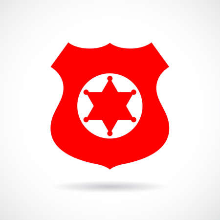 Sheriff badge vector icon Illustration