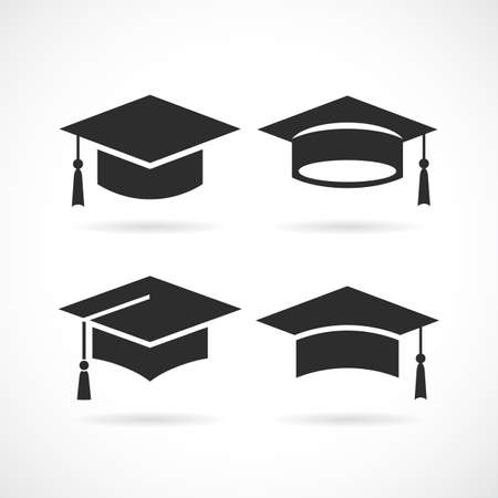 Graduation university square cap icon