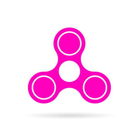 gyration: Pink hand spinner vector icon