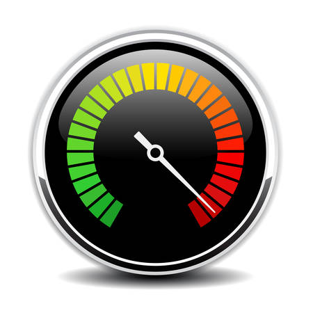 High speed metering vector icon